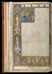 Historiated Initial And Historiated Border, In A Fragmentary Psalter f.16v